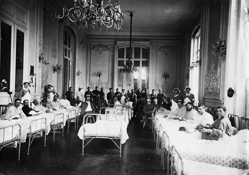 American Red Cross ward at Palais d 'Hiver in Pau, France