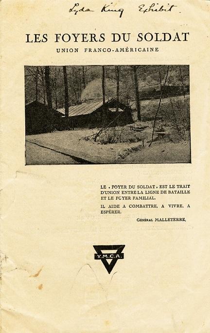 """""""Les Foyers Du Soldat. Union Franco-Américaine"""" Y.M.C.A. Pamphlet"""