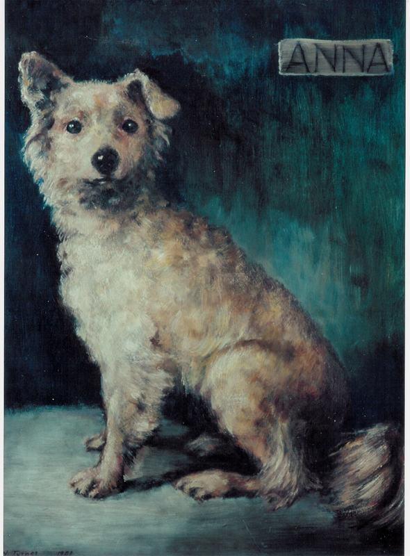 """Portrait - Anna, """"Blue Baby Dog"""""""