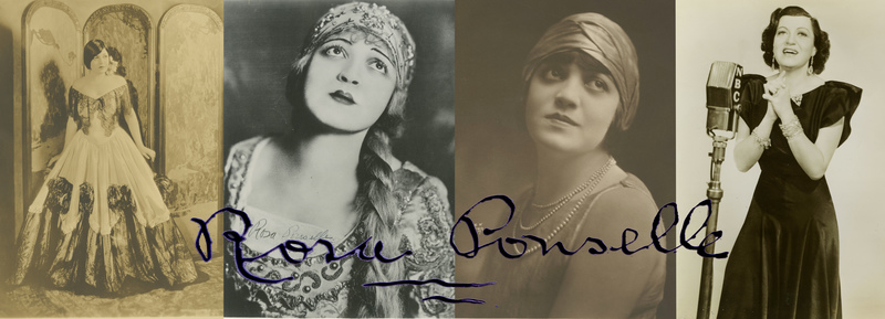 Rosa Ponselle Welcome Collage
