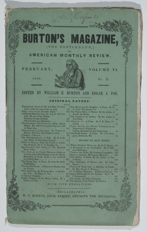 Cover of Burton's Gentleman's Magazine