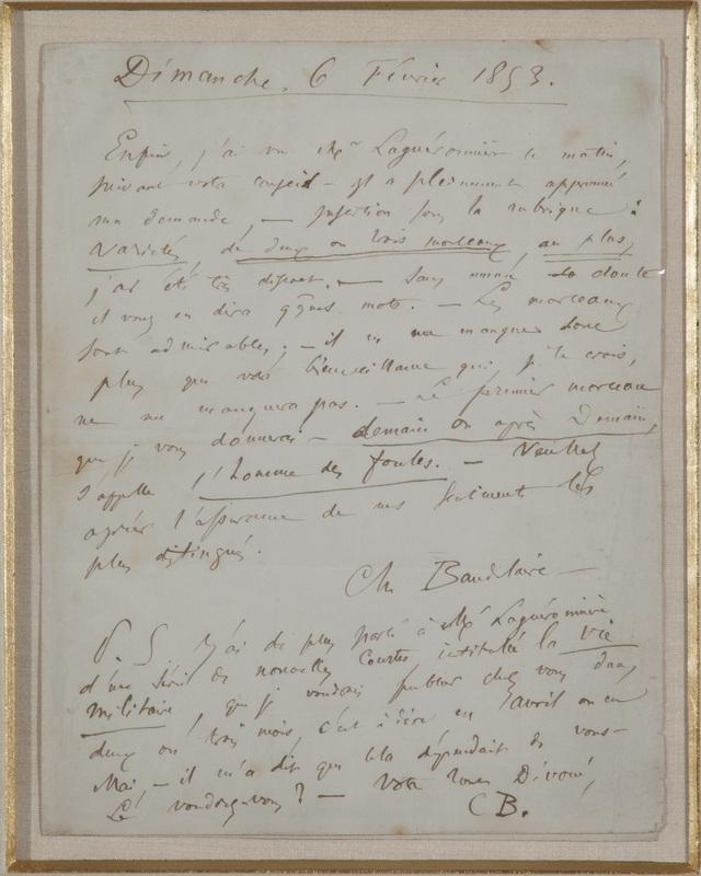 Letter to Armand Dutacq