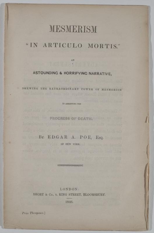 "Mesmerism ""In Articulo Mortis"""