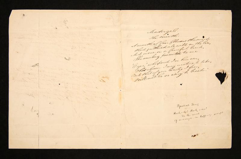 """Spiritual Song"" addressed to Thomas White, editor of Southern Literary Messenger"