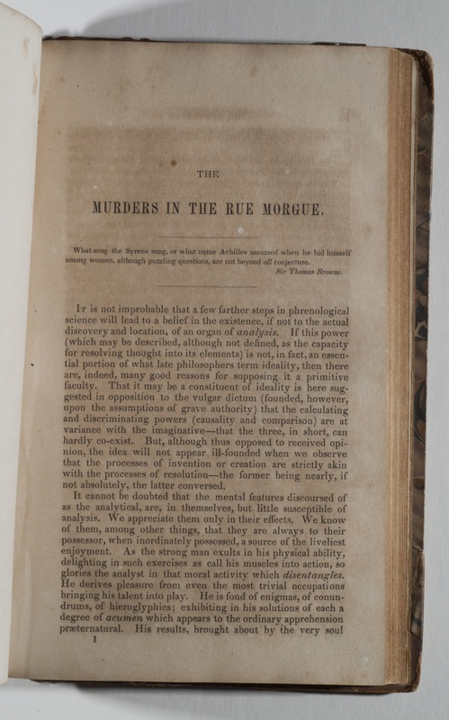 "First page of ""Murders in the Rue Morgue"""