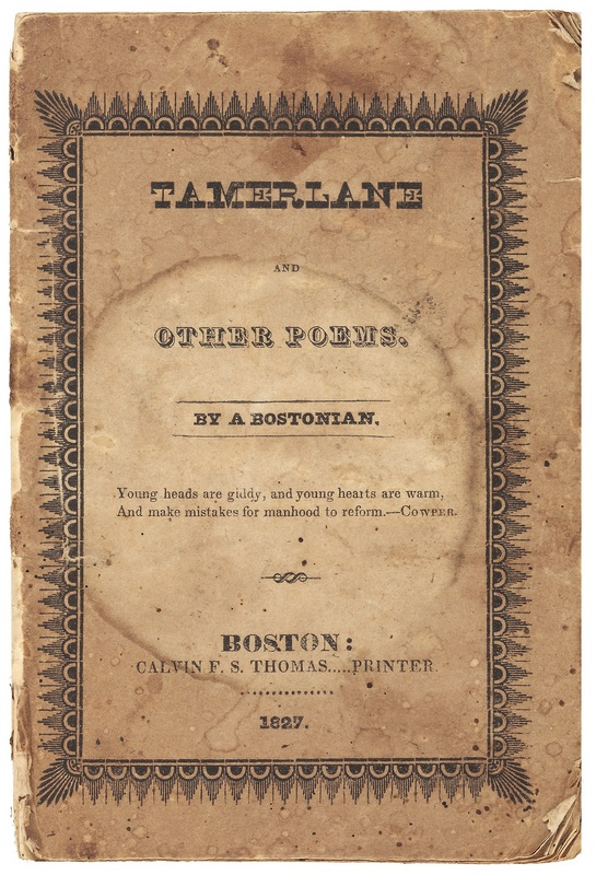 Cover of Tamerlane and Other Poems, By a Bostonian