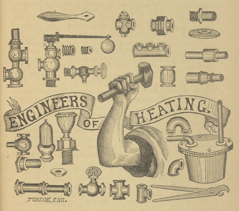 Detail from advertisement for Lapsley and Thomas Steam and Water Fixtures, Baltimore, Maryland