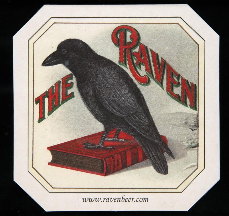 Raven Beer raven coaster