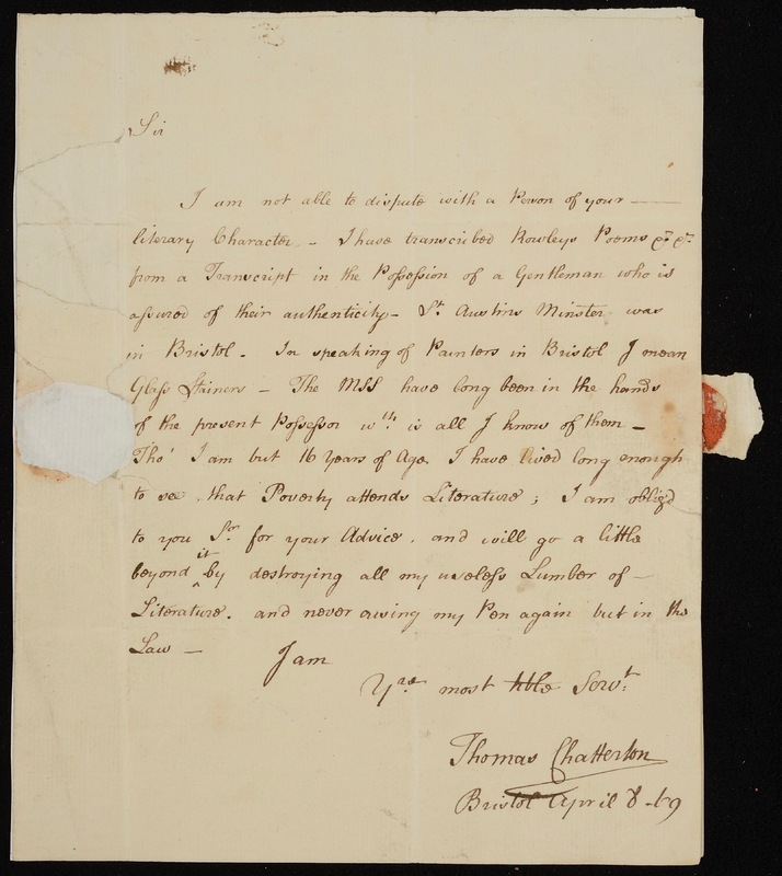 Autograph Letter (signed) to Horace Walpole