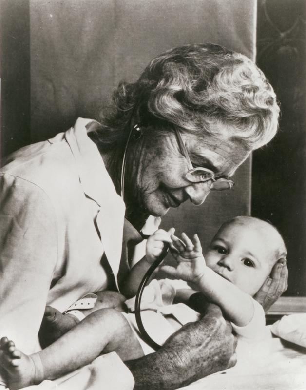 """""""Helen Taussig, portrait with child"""""""