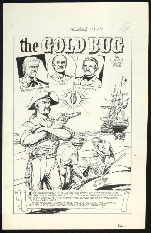 "Original artwork for ""The Gold Bug"" for The Gold Bug and Other Stories by Edgar Allan Poe, Classics Illustrated No. 84"