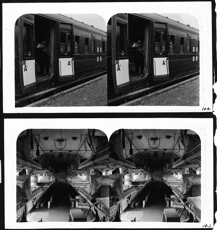 Hospital Trains parked near Bazoilles-sur-Meuse