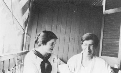 Martha May Eliot with Ethel C. Dunham