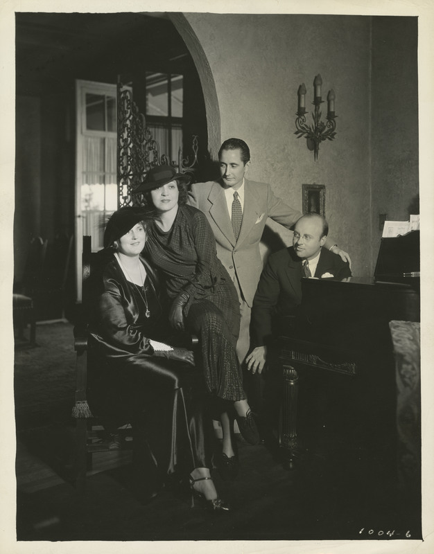 Photograph of Rosa Ponselle with the cast of Chesterfield