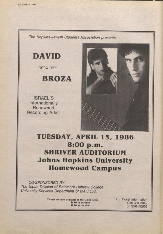 JSA brings David Broza