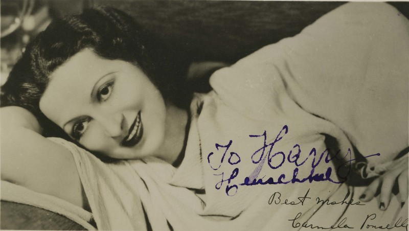 Photograph of Carmela Ponselle with autograph