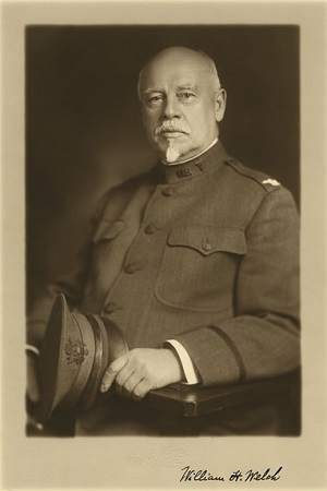 William H. Welch, seated portrait in military uniform