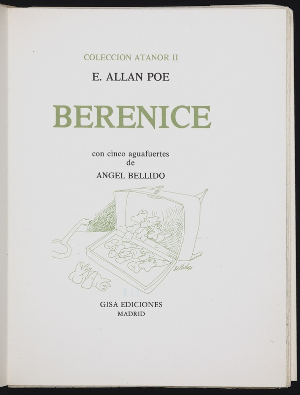 Title page for Berenice