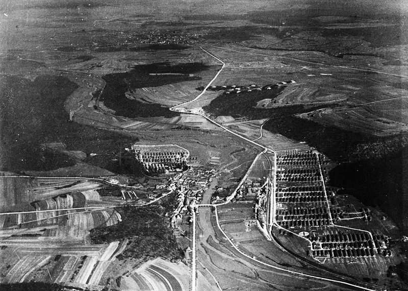 United States Army Base Hospital 18. Aerial view