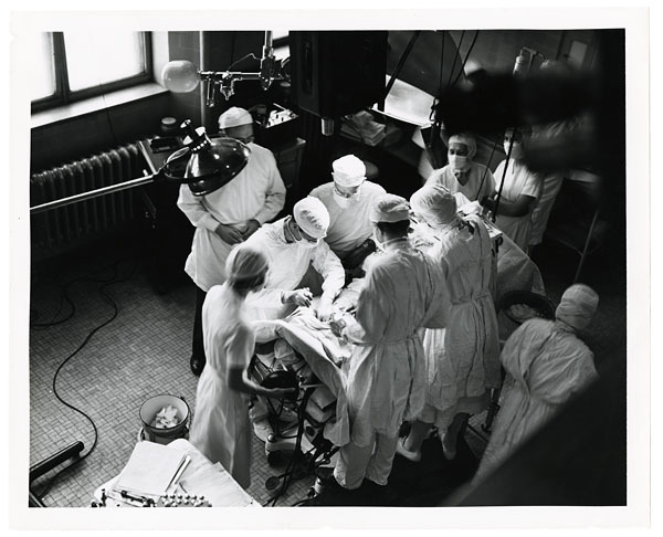"""Overhead view of the """"Blue Baby"""" operation"""