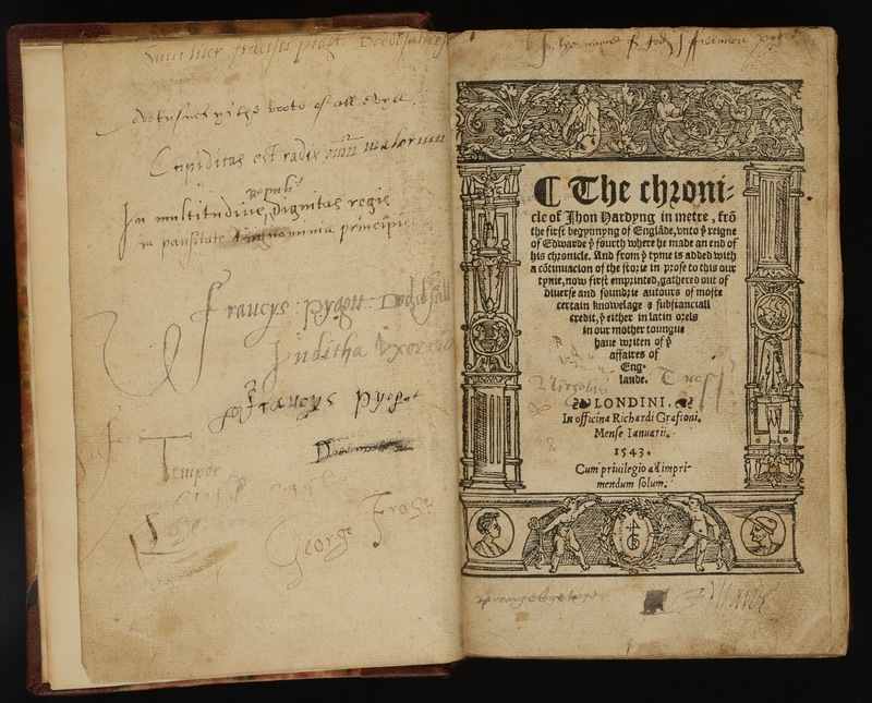 The chronicle in metre, from the begynning of Englande, unto ye reigne of Edward ye fourth ... with a continuacion of the storie in prose to this our tyme [by Richard Grafton]