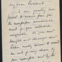 Letter from James B. Angell to Daniel Coit Gilman