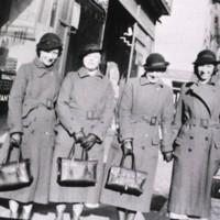 Four nurses from the Henry Street Visiting Nurse Service