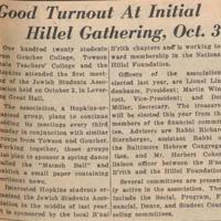 initial Baltimore hillel gathering