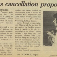 "<a href=""http://exhibits.library.jhu.edu/exhibits/show/jews-at-hopkins/glossary"" target=""_blank"">Yom Kippur</a> Class Cancellation proposed"
