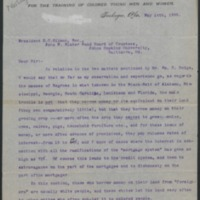Letter from Booker T. Washington to Daniel Coit Gilman