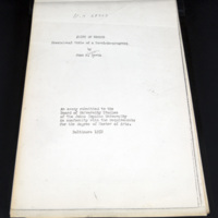 "Photocopy of title page of ""Shirt of Nessus,"" M.A. thesis"