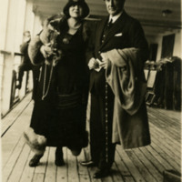 Photograph of Rosa Ponselle with H.P. Fletcher on deck