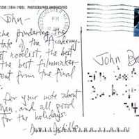 Postcard to John Barth (back)