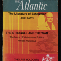 "Cover of The Atlantic, August 1967, containing ""The Literature of Exhaustion"""
