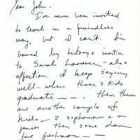 Letter to John Barth (first page)