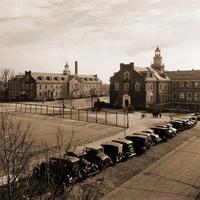 Latrobe Hall (right) and Maryland Hall