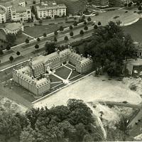 Alumni Memorial Dormitory, aerial view