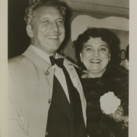 Photograph of Rosa Ponselle with Ezio Pinza in 1953.