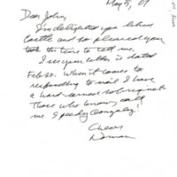 Letter to John Barth