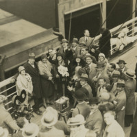 Photograph of Rosa Ponselle on deck in 1929