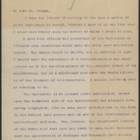 Letter from Woodrow Wilson to Daniel Coit Gilman