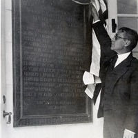 Unveiling of World War I commemorative plaque