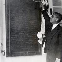 Unveiling of World War I commemorative plaque