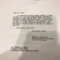 Letter to Dr. Rehm