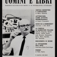 Cover of Uomini E Libri, containing interview with John Barth, by Michele Ricciardelli