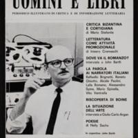 Cover of Uomini E Libri, containing interview with John Barth, by Michele Ricciardelli