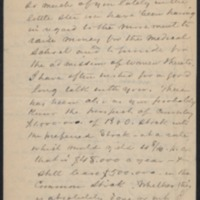 Letter from James Carey Thomas to Daniel Coit Gilman (includes typescript version)