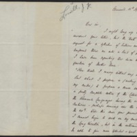 Letter from James Russell Lowell to Daniel Coit Gilman