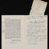Page from Stories and Texts for Nothing, with John Barth's notes