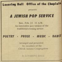 Jewish Pop service